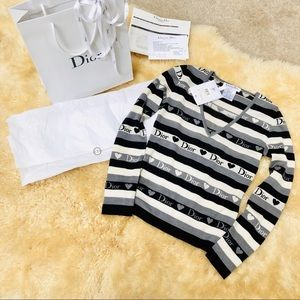 Christian Dior monogram logo heart women's sweater